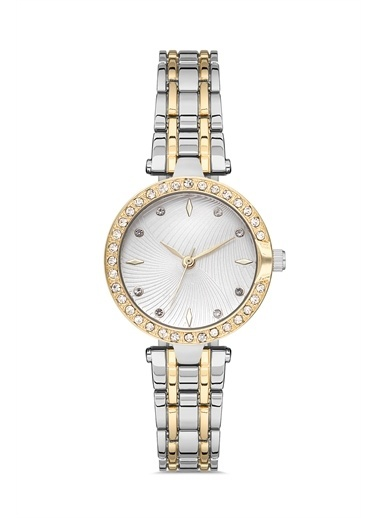 Madamra Taş Detaylı Klasik Kordon  Kadın Kol Saati Gümüş